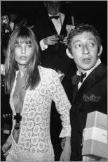 Hartschaumbild  Jane Birkin und Serge Gainsbourg - Celebrity Collection