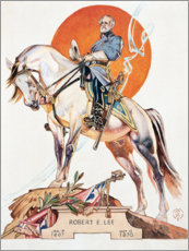 Holzbild  Robert E. Lee - Joseph Christian Leyendecker