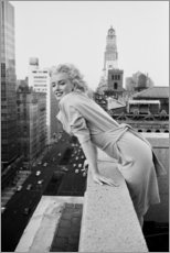 Wandsticker  Marilyn Monroe in New York - Celebrity Collection