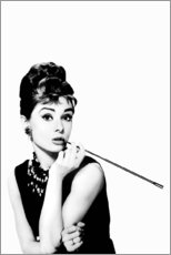 Holzbild  Rauchende Audrey - Celebrity Collection