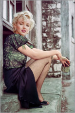 Premium-Poster  Marilyn Monroe in einer Filmpause - Celebrity Collection