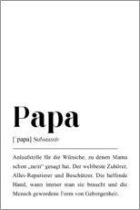 Holzbild  Papa Definition - Pulse of Art