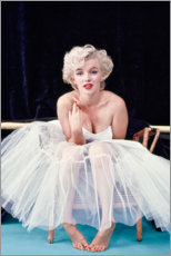 Hartschaumbild  Marylin Monroe im Ballettkleid - Celebrity Collection
