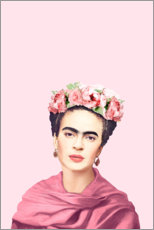 Hartschaumbild  Hommage an Frida - Celebrity Collection