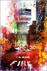 Premium-Poster NYC Fire Lane