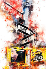 Premium-Poster NYC One Way Street