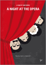 Premium-Poster No1053 My A Night at the Opera minimal movie poster