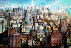 Acrylglasbild  New York Midtown, Blick von Greenwich Village - Johann Pickl