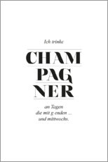 Gallery Print  Champagner - Amy and Kurt