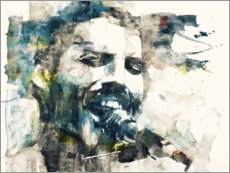 Acrylglasbild  Freddie Mercury - The Show Must Go On - Paul Lovering Arts