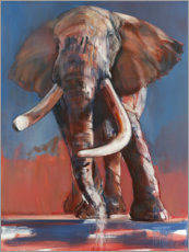 Gallery Print  Ein Elefant am Wasserloch - Mark Adlington