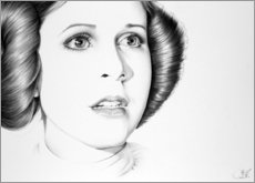 Premium-Poster Carrie Fisher als Prinzessin Leia