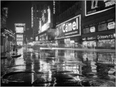 Leinwandbild  Regen auf dem Times Square in New York