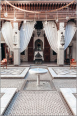 Hartschaumbild  Innenhof in Marrakech - TBRINK