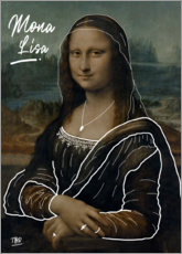 Premium-Poster Mona Lisa Illustration