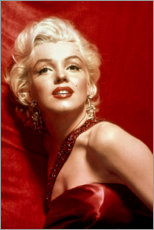 Premium-Poster  Marilyn Monroe - rotes Kleid - Celebrity Collection