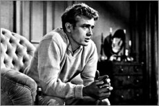 Premium-Poster James Dean auf Sofa