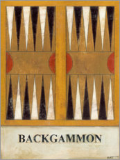Holzbild  Backgammon - Norman Wyatt
