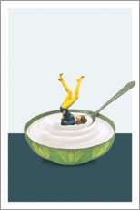 Premium-Poster Yoga in my yogurt