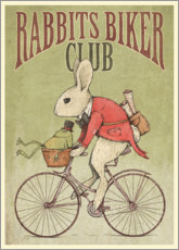 Leinwandbild  Rabbits Biker Club - Mike Koubou