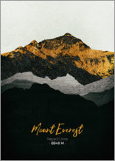 Holzbild  Mount Everest - Tobias Roetsch