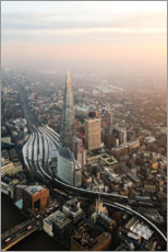 Premium-Poster The Shard bei Sonnenuntergang, London