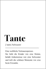 Leinwandbild  Tante Definition - Pulse of Art