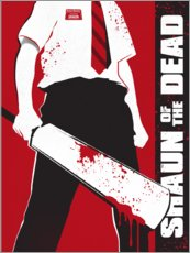 Holzbild  Shaun of the dead - Golden Planet Prints