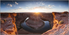 Premium-Poster Panorama des Horseshoe Bend, Arizona