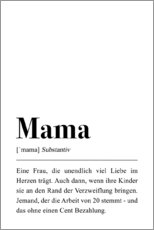 Hartschaumbild  Mama Definition - Pulse of Art
