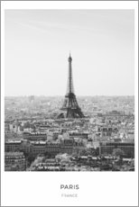 Premium-Poster  Eiffelturm in Paris - Art Couture