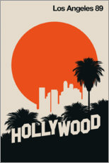 Plakat  Hollywood, Los Angeles 89 - Bo Lundberg