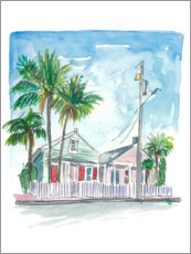 Leinwandbild  Traumhäuser in Key West, Florida - M. Bleichner