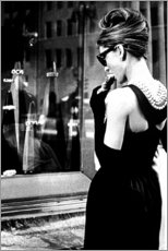 Leinwandbild  Croissant-Szene ? Breakfast at Tiffany's - Celebrity Collection