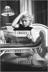 Holzbild  Marylin Monroe ? Zeitung lesend - Celebrity Collection