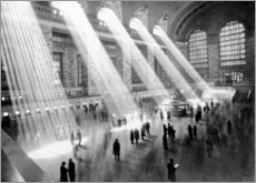 Acrylglasbild  Sonnenstrahlen in der Grand Central Station