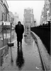 Hartschaumbild  James Dean am Times Square - Celebrity Collection