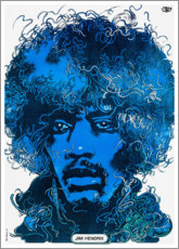 Premium-Poster  Jimi Hendrix - Wire Portrait - Entertainment Collection