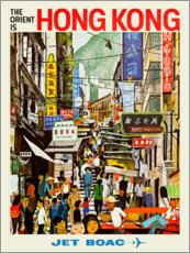 Premium-Poster  Hong Kong - Jet BOAC - Travel Collection