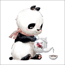 Premium-Poster  Teezeit mit Panda - Kidz Collection