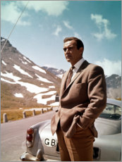 Hartschaumbild  Goldfinger, Sean Connery