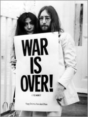 Hartschaumbild  Yoko & John - War is over!