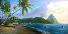Acrylglasbild  Soufriere Beach - Jonathan Guy-Gladding