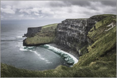 Premium-Poster Cliffs of Moher bei Regen