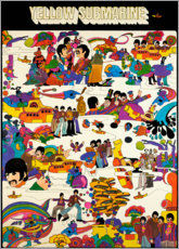 Leinwandbild  The Beatles - Yellow Submarine - Entertainment Collection