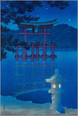 Premium-Poster  Sternenhimmel - Kawase Hasui