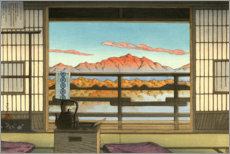 Hartschaumbild  Morgens im Hot-spring Resort in Arayu - Kawase Hasui