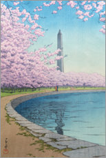 Alubild  Washingtoner Denkmal am Potomac River - Kawase Hasui