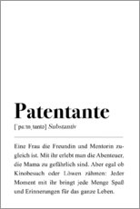 Premium-Poster Patentante Definition (deutsch)