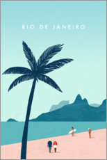 Leinwandbild  Rio de Janeiro Illustration - Katinka Reinke